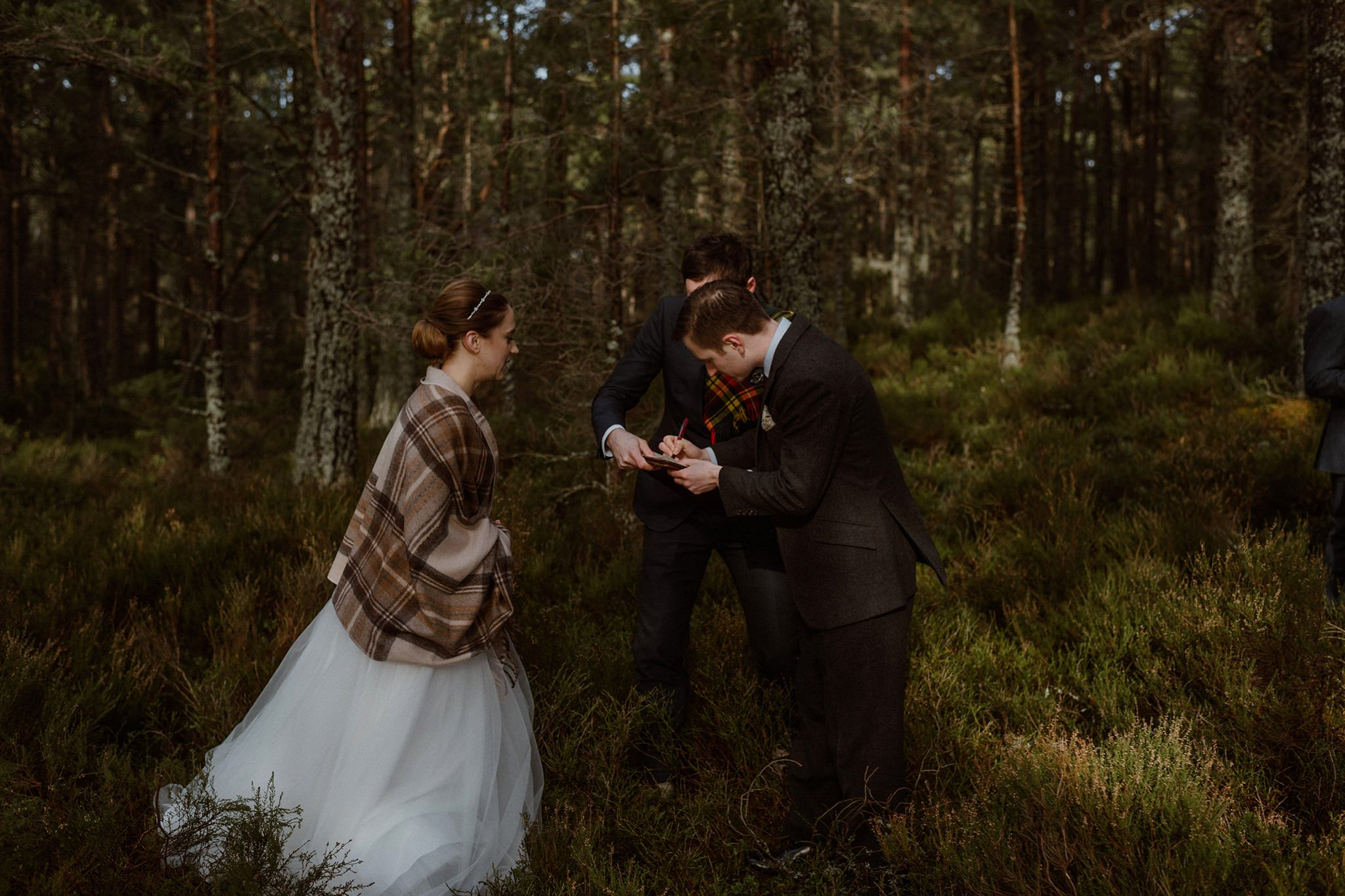 Elopement location Rothiemurchus forest Cairngorms Scotland