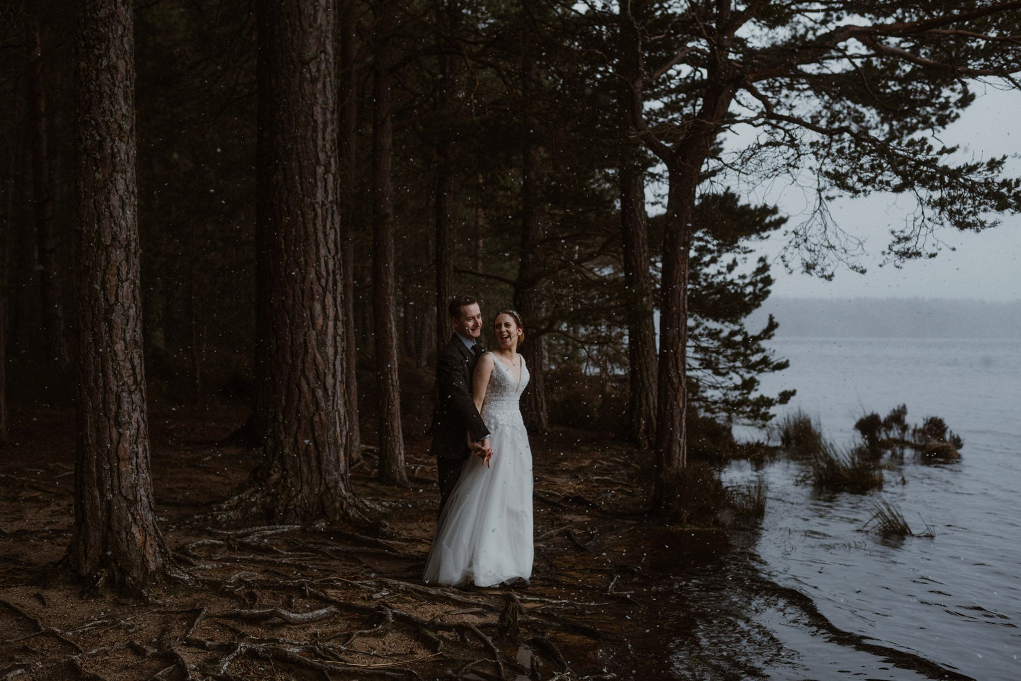 Elopement couple by Loch Garten Cairngorms