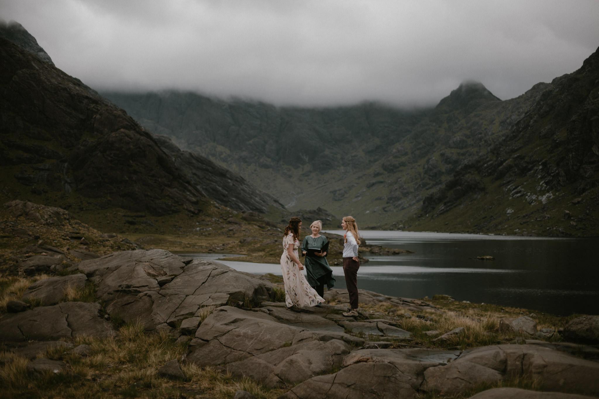 Elope in Scotland Loch Coruisk elopement wedding ceremony