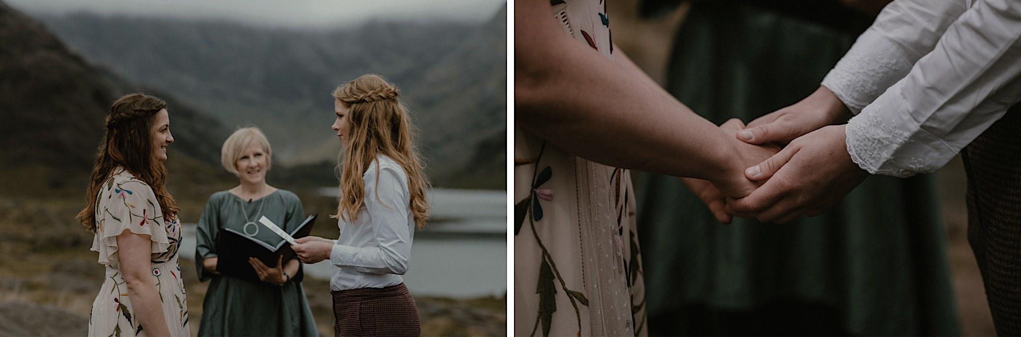 Isle of Skye elopement Loch Coruisk elopement ceremony