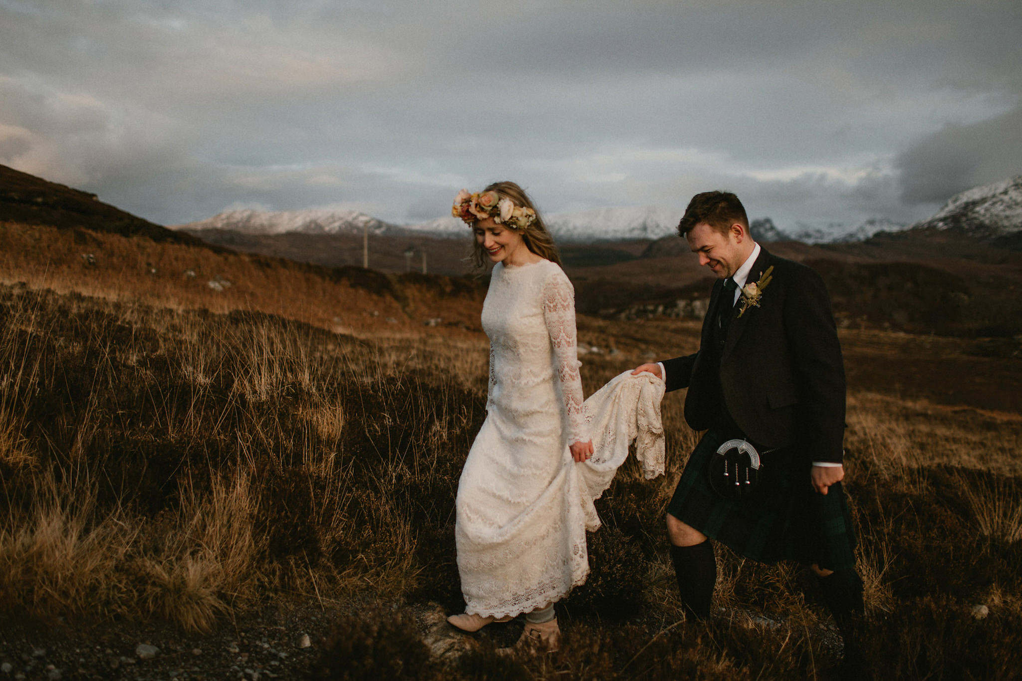 Scottish elopement inspiration Wester-Ross Loch Maree