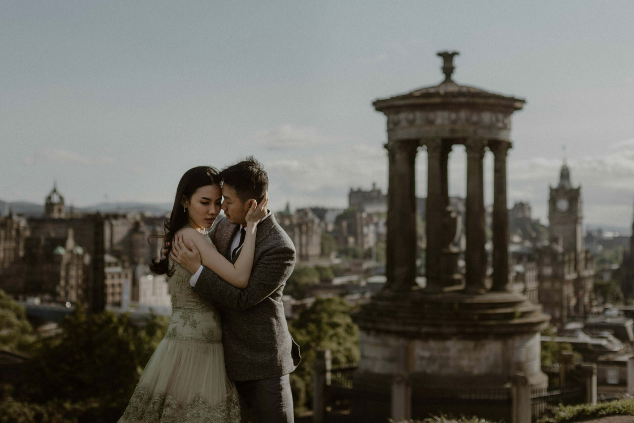 Best elopement locations Edinburgh Carlton Hill wedding