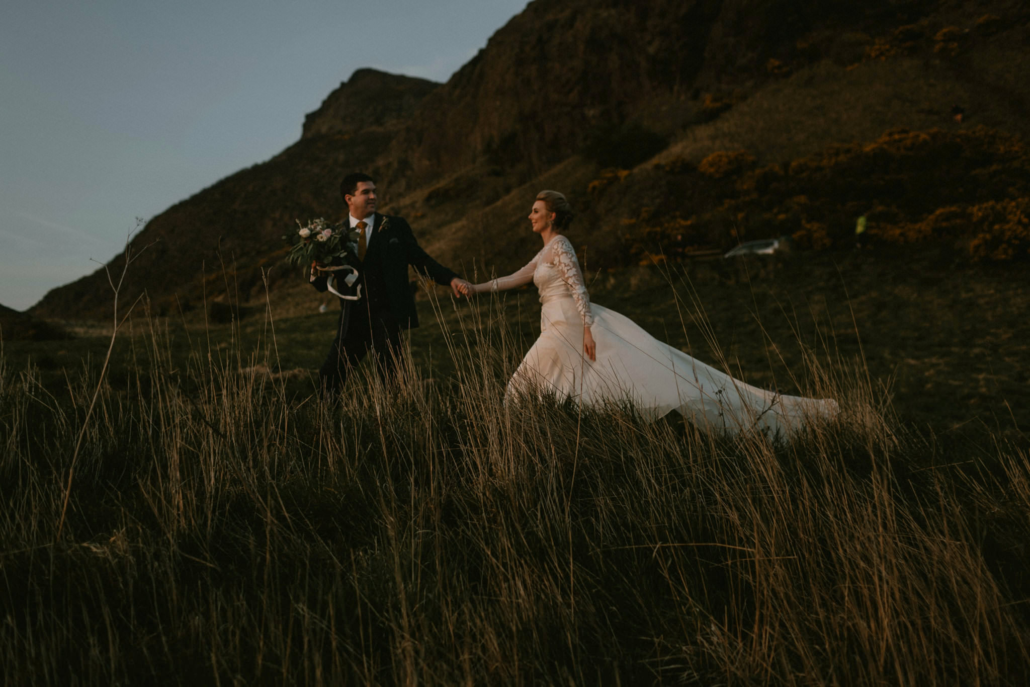 Best elopement locations Edinburgh Arthur's Seat wedding