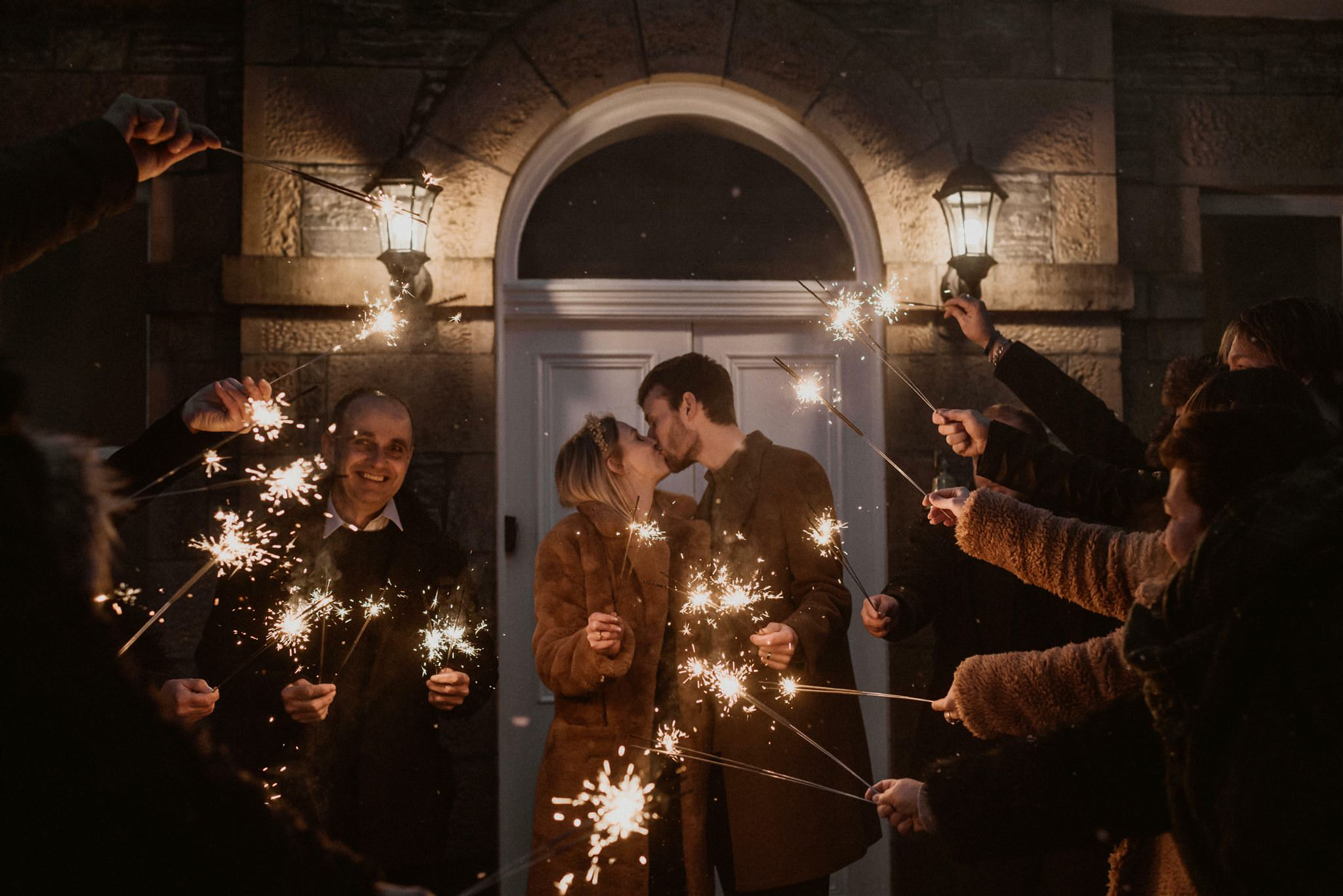 Scotland elopement sparklers wedding photography