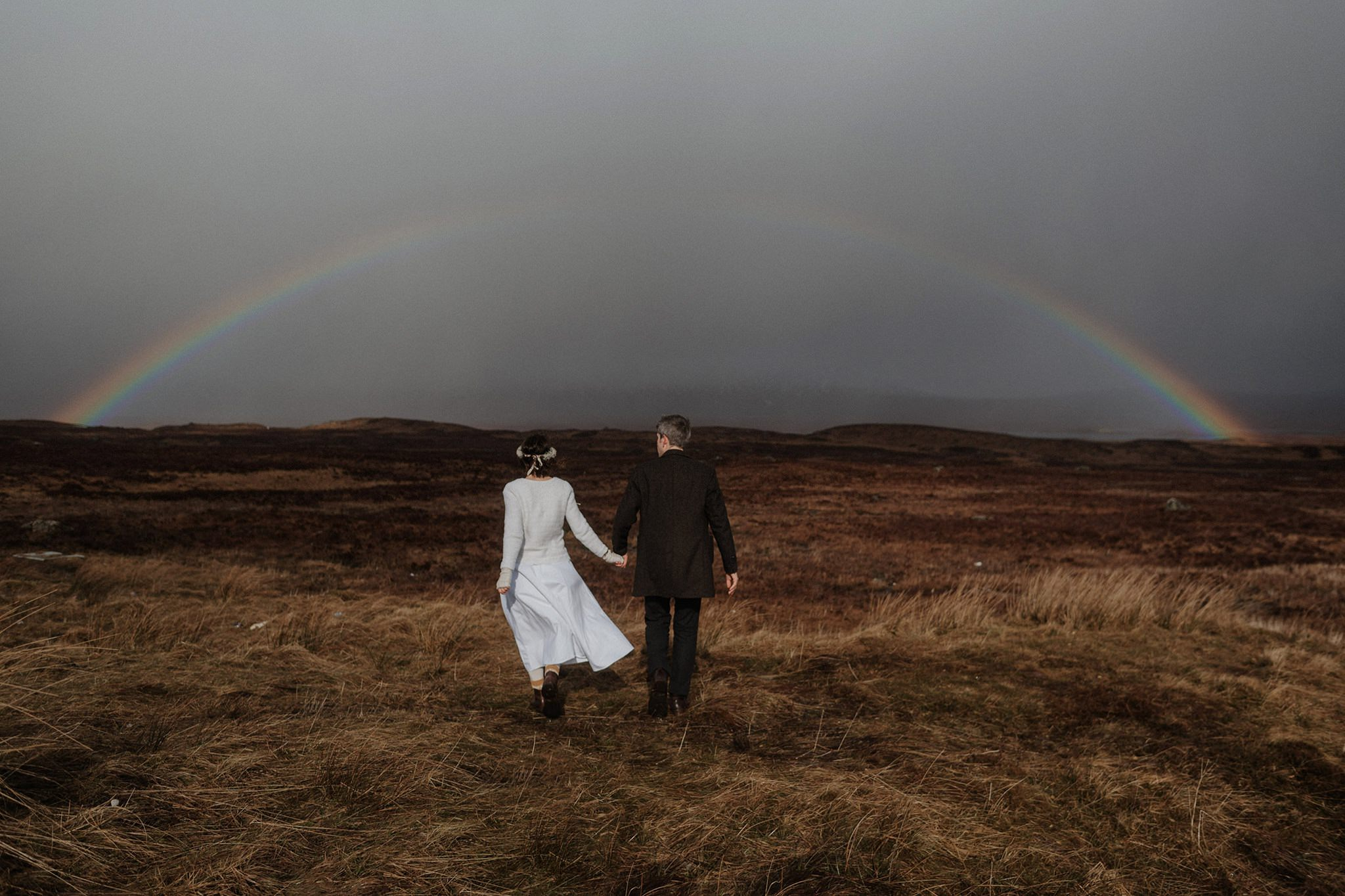 Rainbow over Rannoch Moor Glencoe elope in Scotland The Caryls Photography