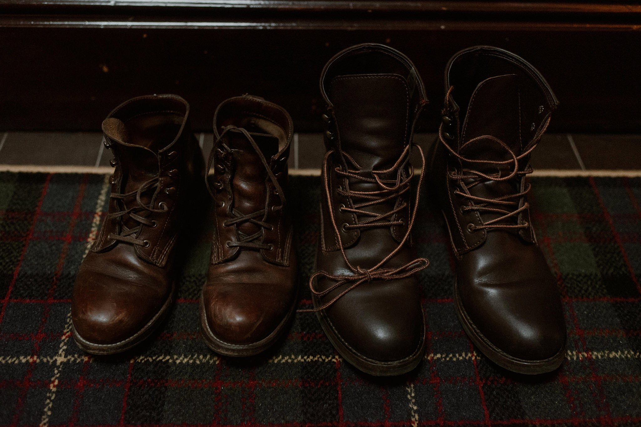 Boots for adventure elopement in Scotland