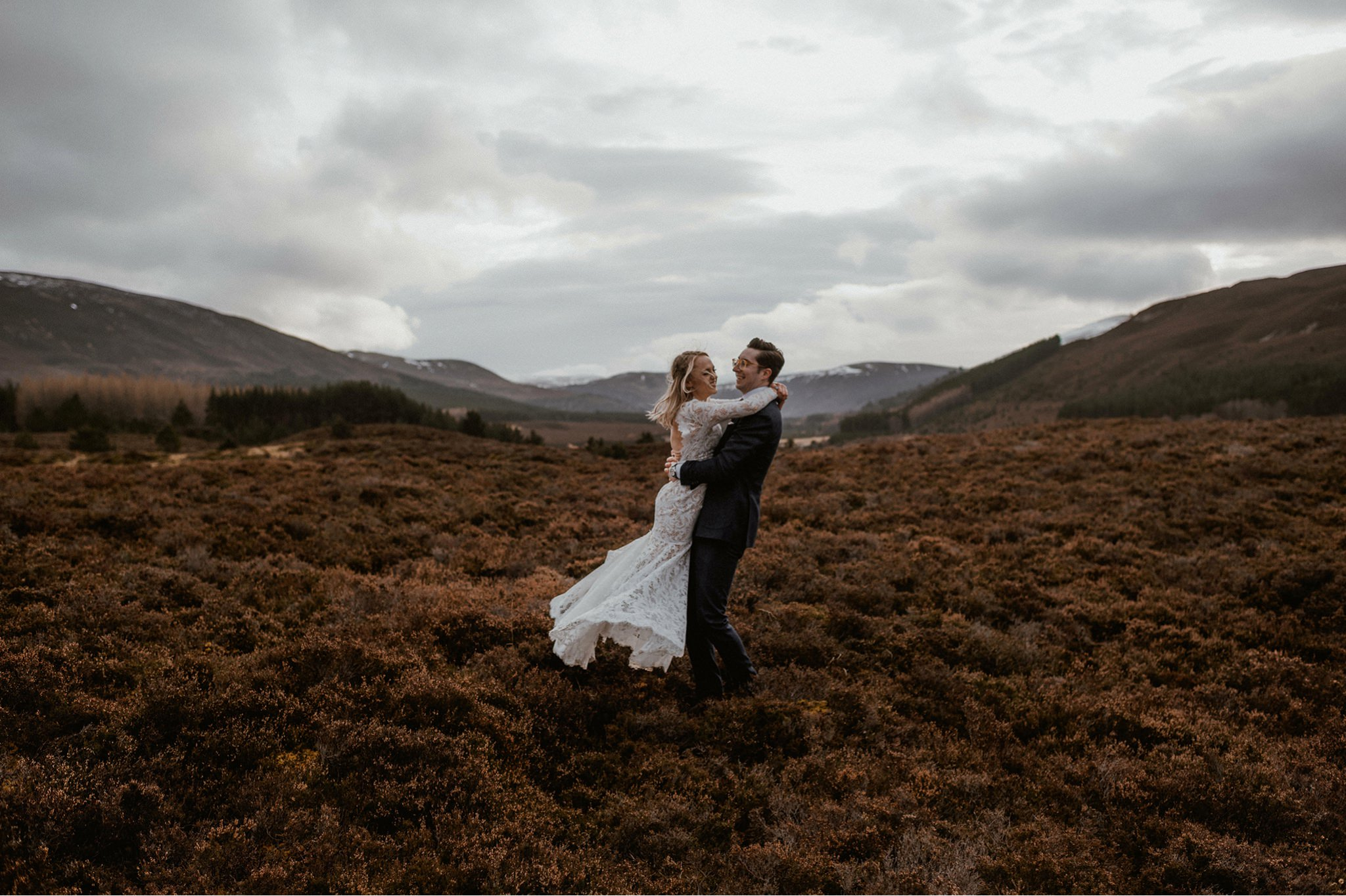 Glenfeshie elopement wedding venue Cairngorms Scotland