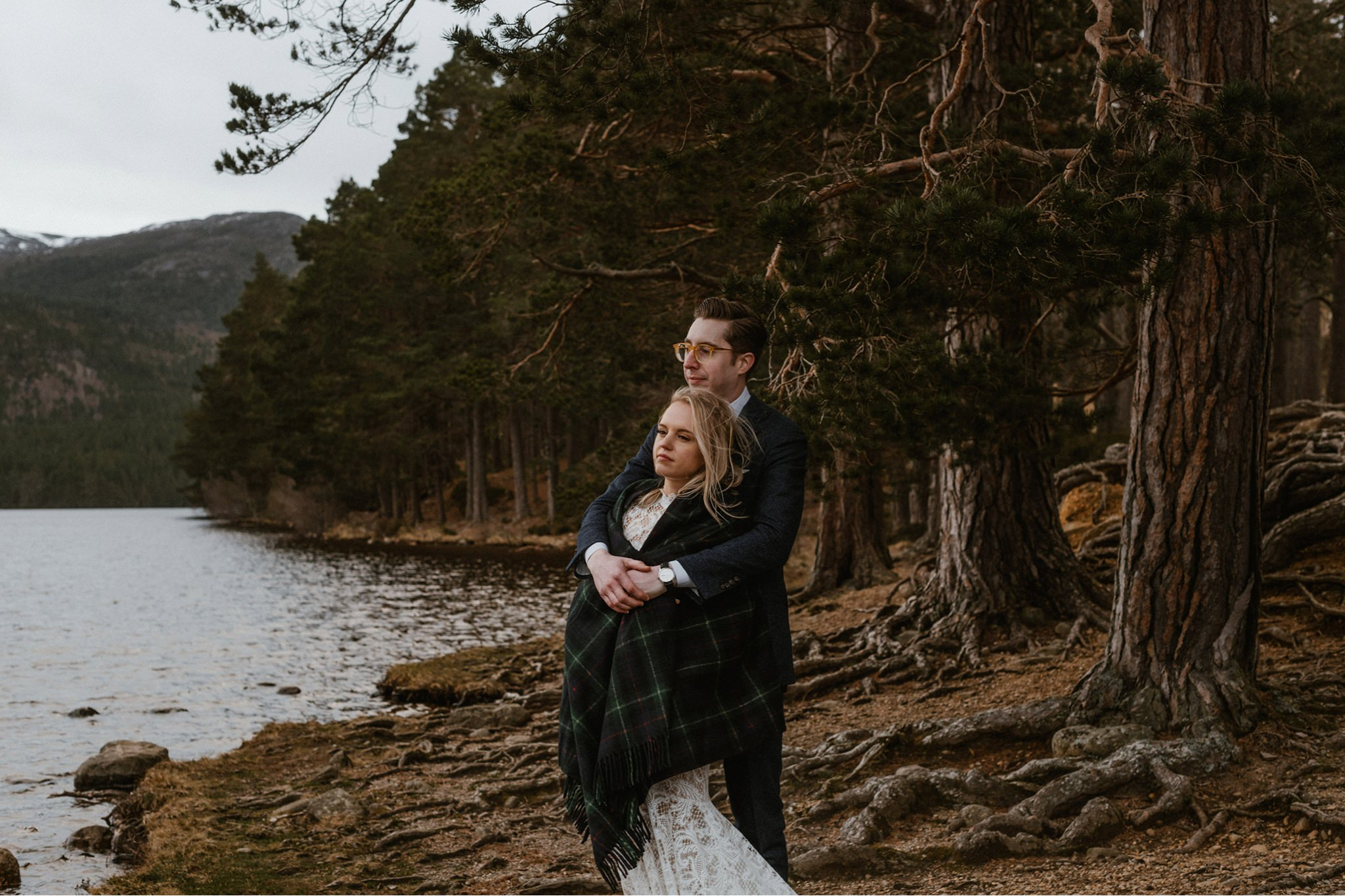 Loch-an-Eilein elopement wedding venue Cairngorms Scotland