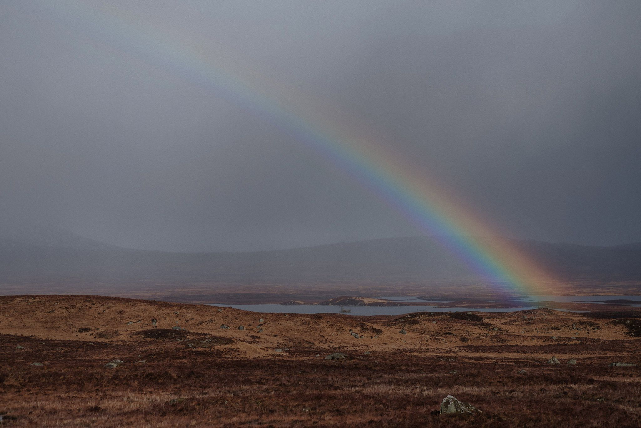 Rainbow over Rannoch Moor Glencoe