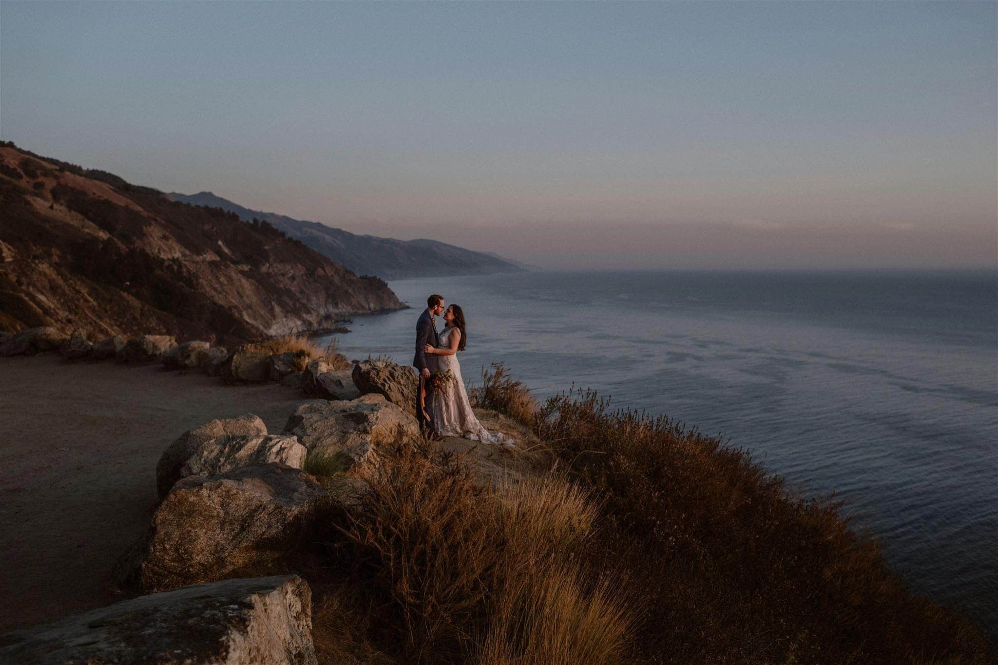 Big Sur coastline wedding