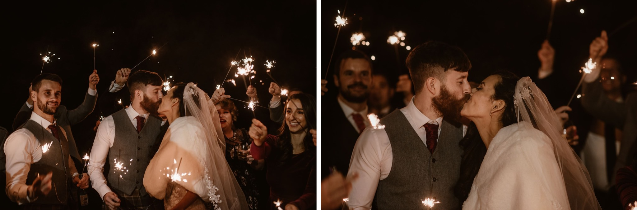 Wedding Sparkler exit