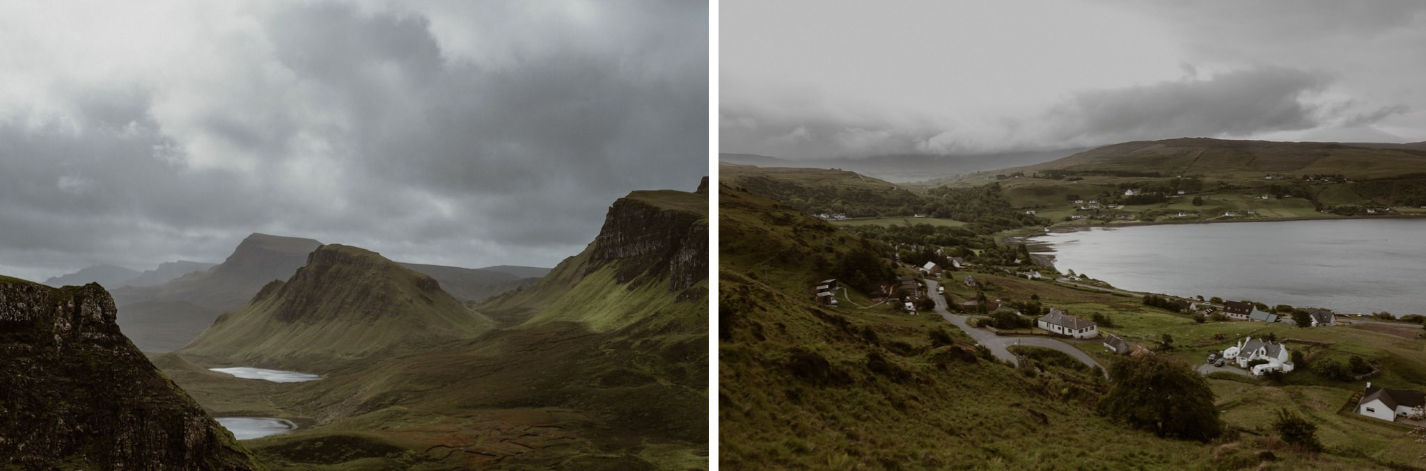 Views of the trotternish near the Quiraing in the Isle of Skye