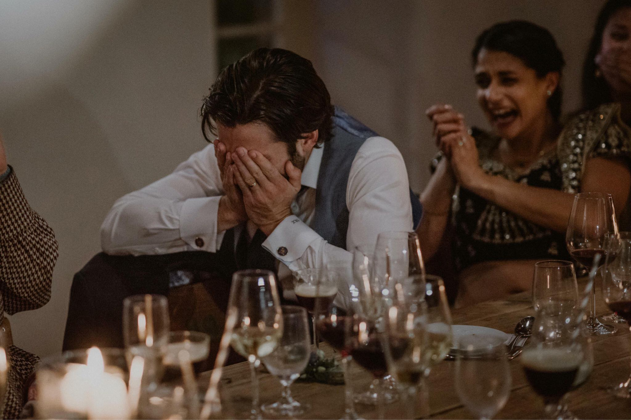 Reactions at wedding speeches