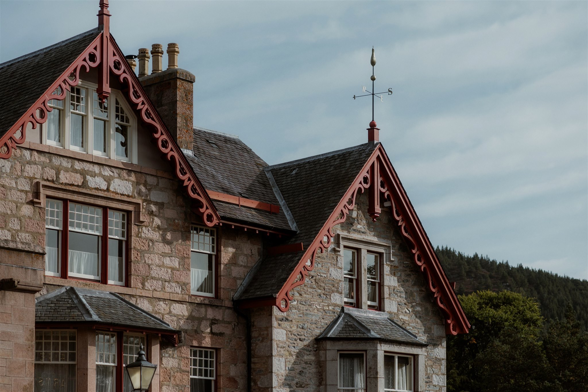 Outside the Fife Arms in Braemar