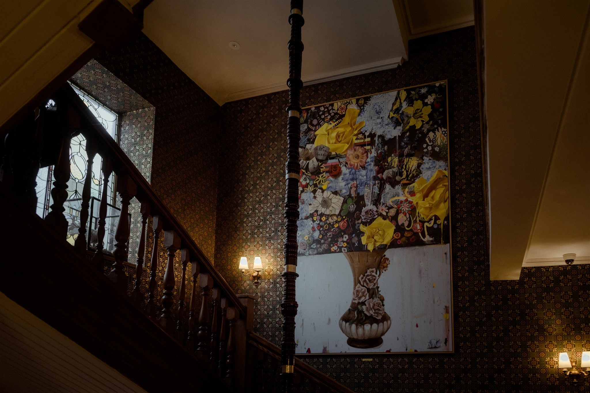 Staircase in The Fife Arms in Braemar