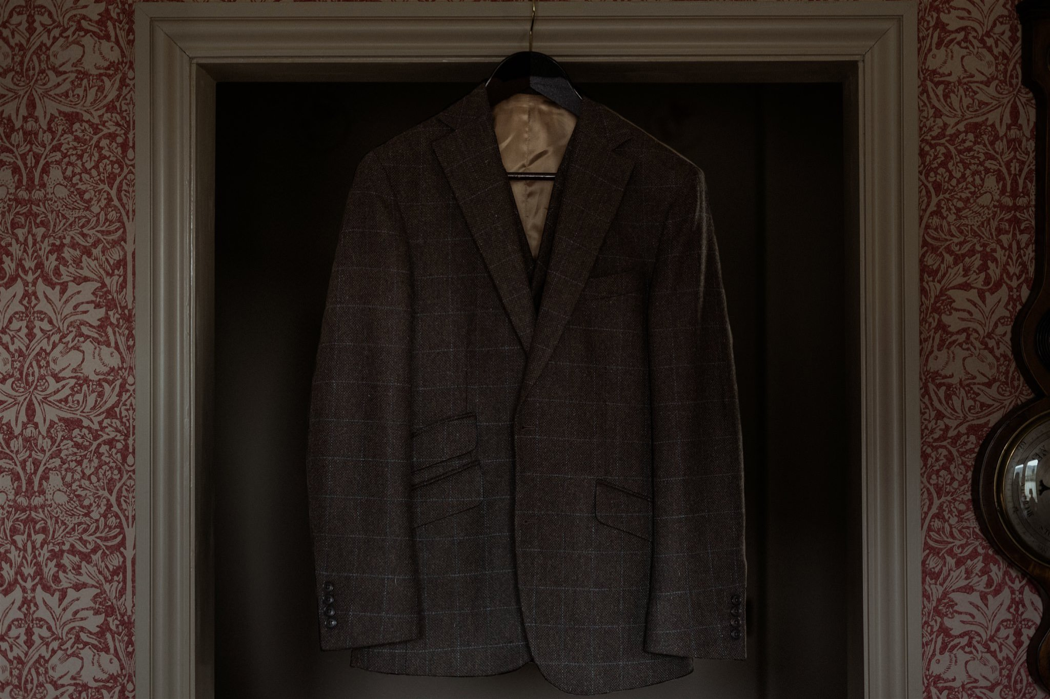 Grooms suit at The Fife Arms in Braemar