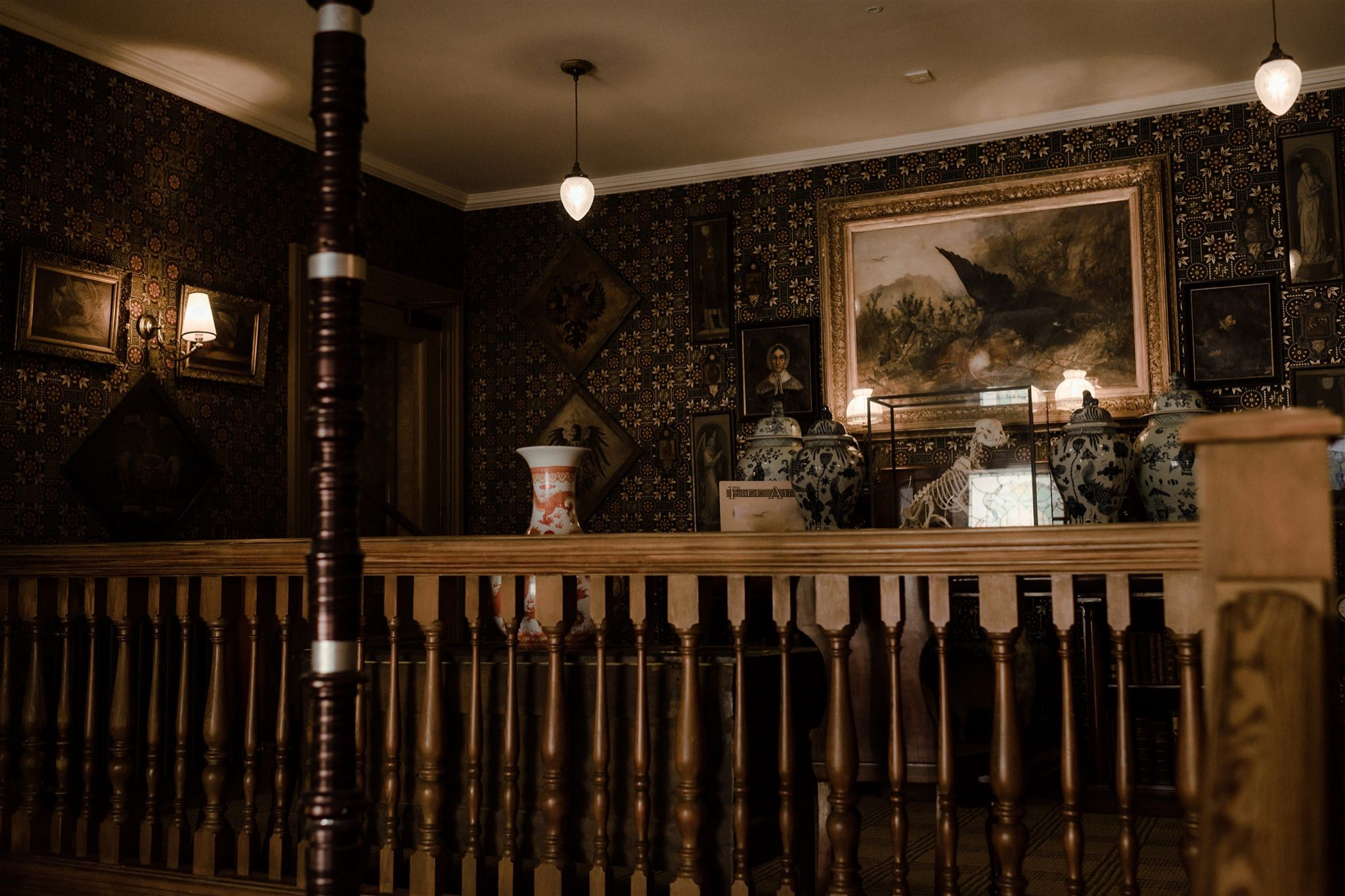 Staircase at the Fife Arms Hotel Braemar