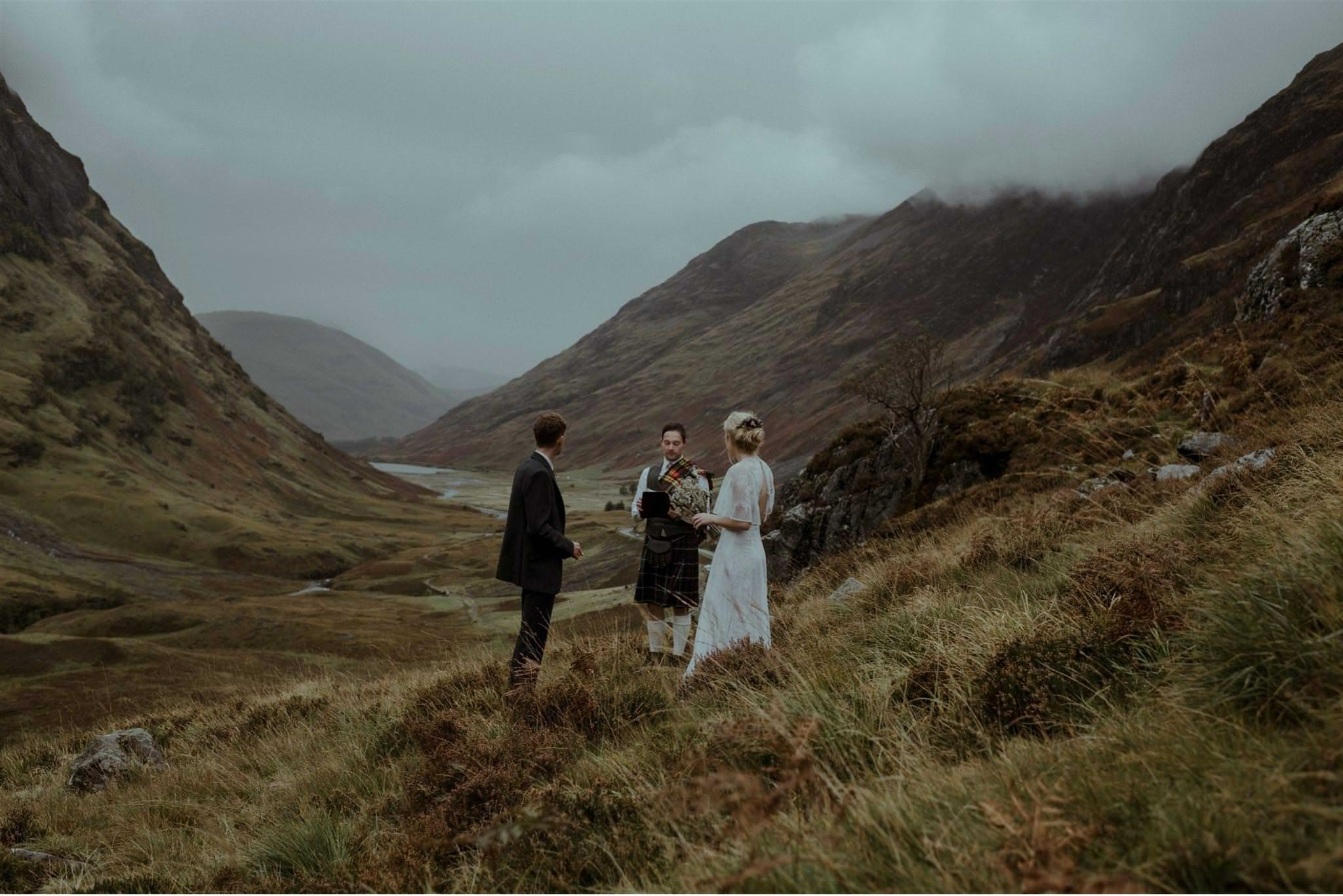 A Glencoe elopement wedding for two in Scotland