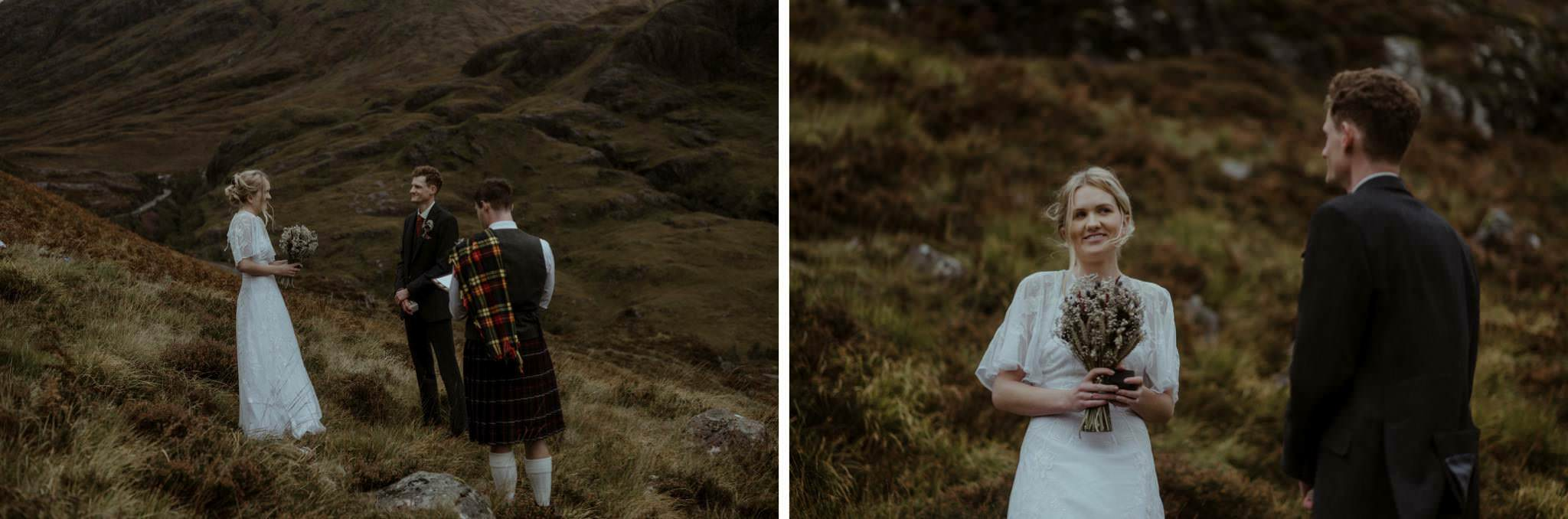 Intimate wedding for two in Glencoe Scotland