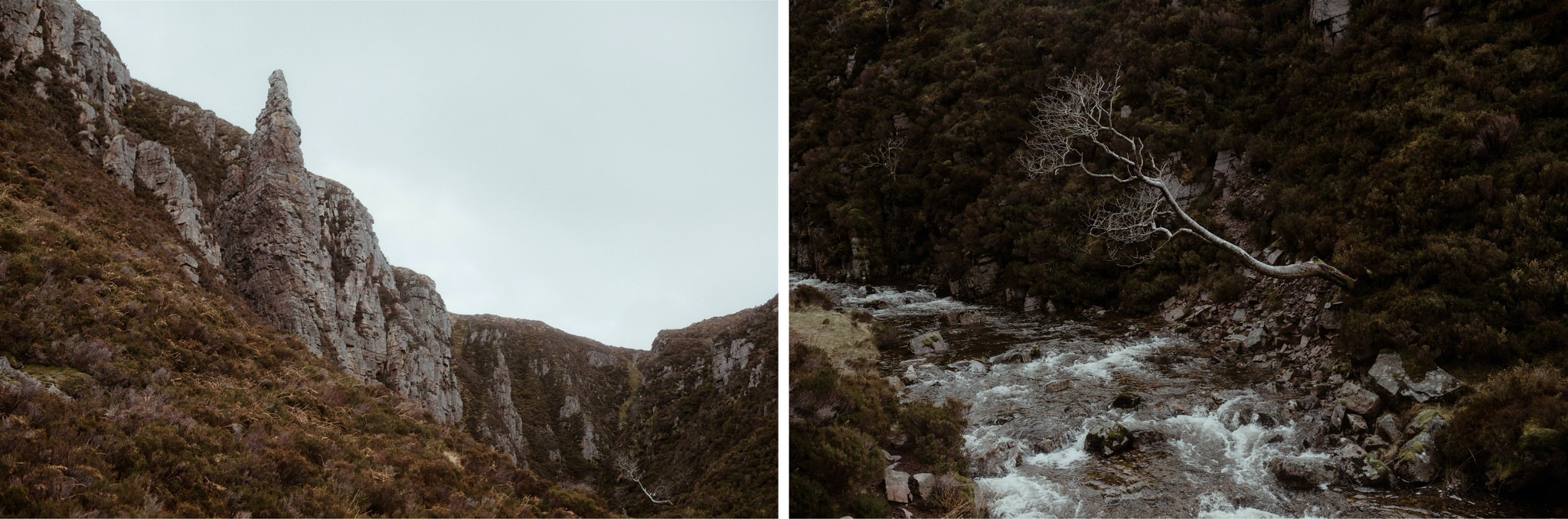 Detail shots of a river in Assynt, Scotland