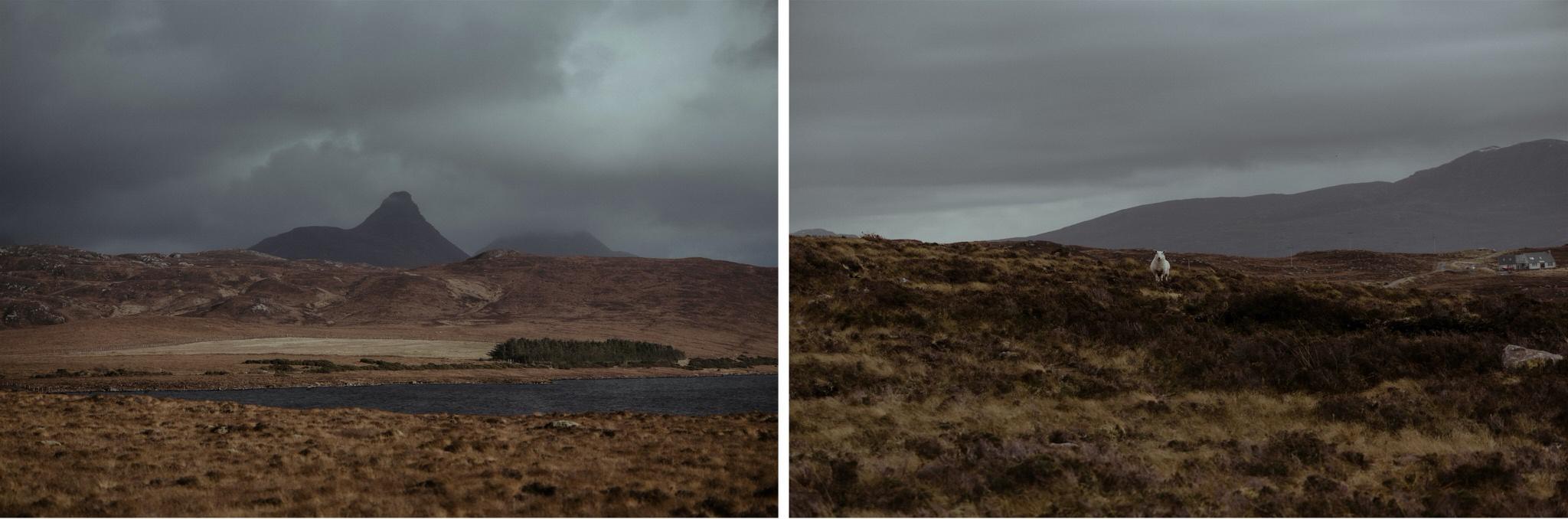 Mountain views in Assynt, Scotland