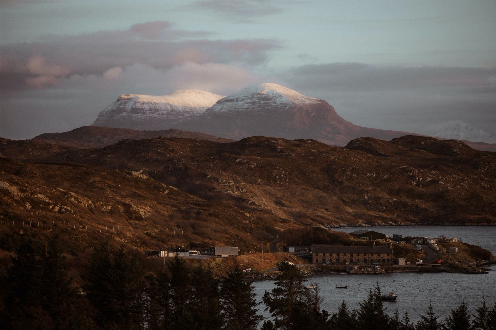 Mountains and sea views in Assynt, Scotland - on the North Coast 500