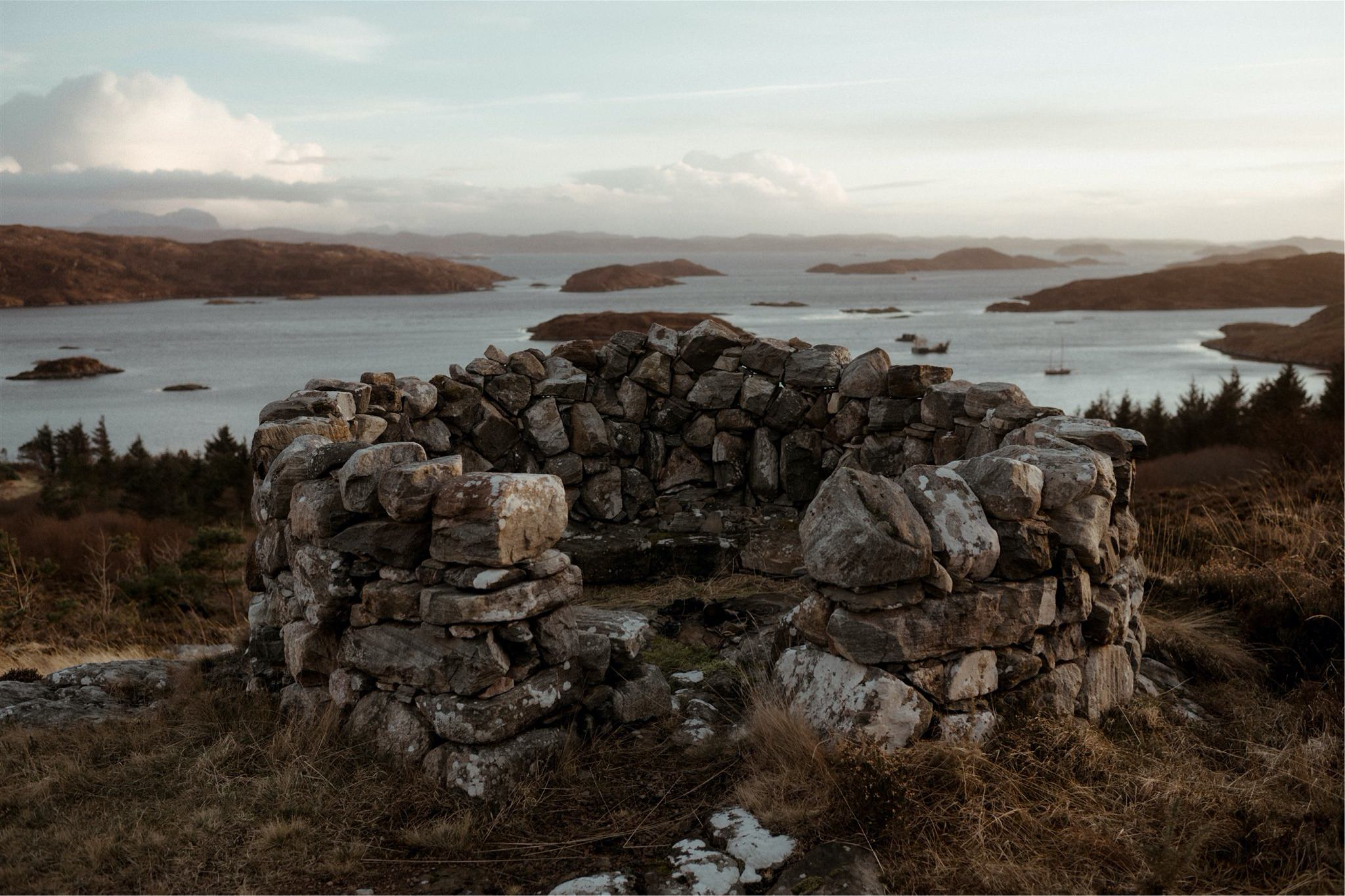 Cairn with sea views in Assynt, Scotland - on the North Coast 500